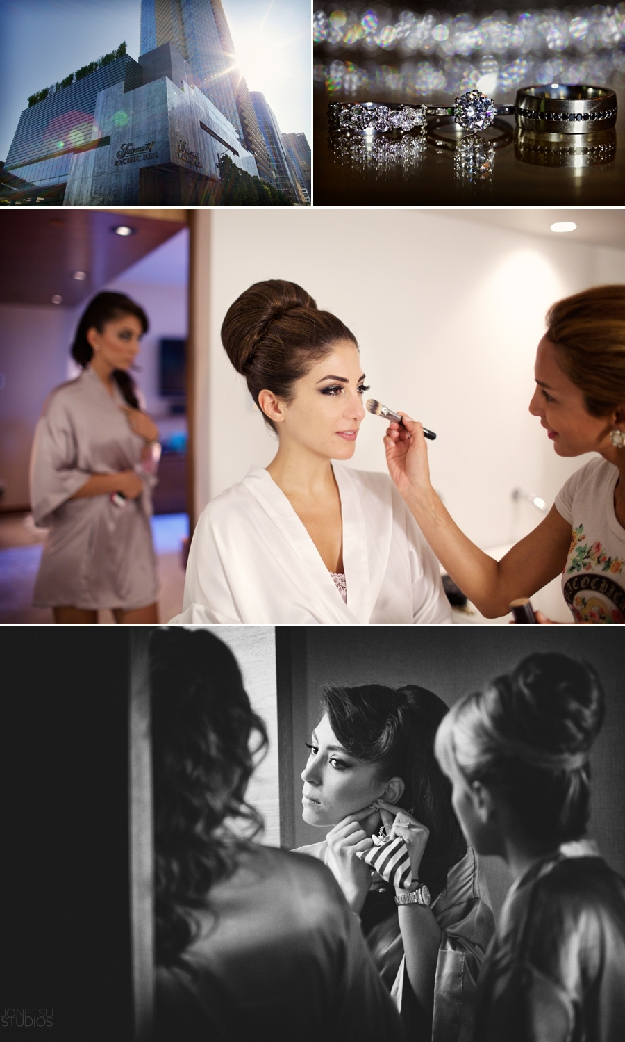 Elnaz looked & felt amazing.  Gorgeous makeup by Haleh Tateh.  The whole day took place at the Fairmont Pacific Rim
